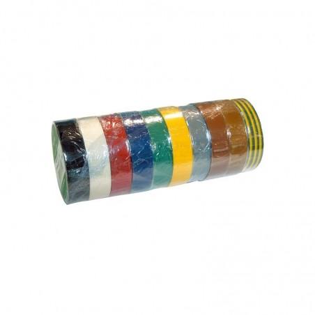 Rouleaux adhésifs 10 m x 15 mm - coloris assortis