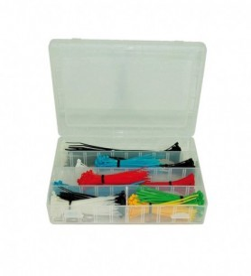 Kit de serre-câbles de couleur 100 x 2,5 mm / 150 x 3,6 mm / 200 x 4,8 mm