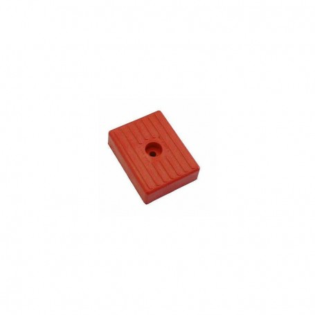 Patin rouge 130 x 100 x 36 mm