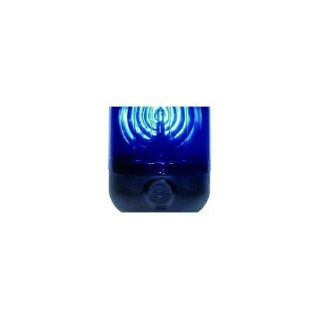 Gyrophare MICROROT tige flexible bleu H1 24 V
