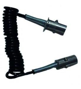 Cordon spirale plastique série N - 3 m
