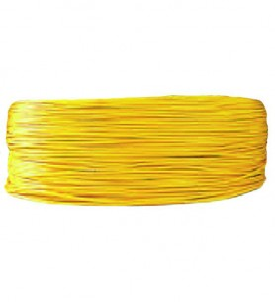 Câble 1 mm² - jaune au mètre