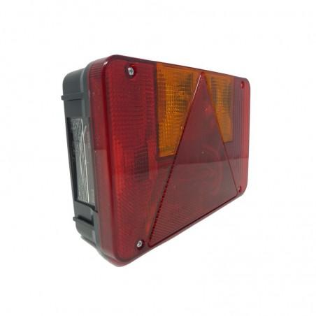 Feu droit 5 fonctions - RADEX série 5800 avec éclaireur de plaque (Prise 4/5 poles avec ampoules)