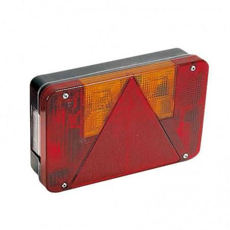 Feu droit 5 fonctions - RADEX série 5800 avec éclaireur de plaque (Cosses plates sans ampoules)