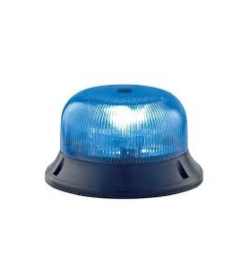 Gyrophare CRYSTAL à poser tournant bleu - H. 74 mm