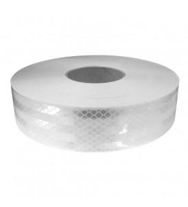 Rouleau de bandes réfléchissantes adhésives - Blanc/argent