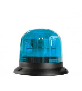 Gyrophare EUROROT tige rigide bleu 12/24 V - IP55 - H. 162 mm - Ø 116 mm