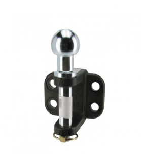 Chape d'attelage avec groupille de sécurité 4 trous Ø 17 mm