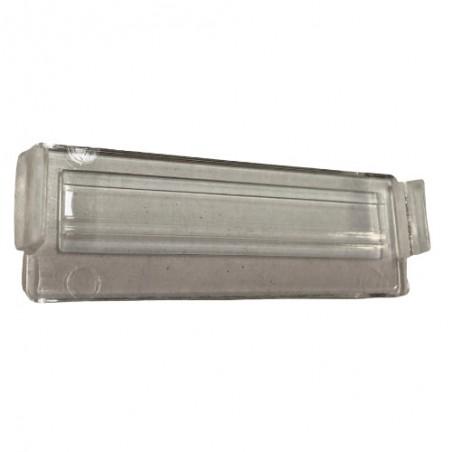 Languette transparente pour éclairage de plaque