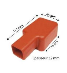Capuchon de cosse de batterie rouge