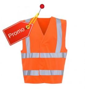 Gilet de sécurité classique orange 4 bandes taille M