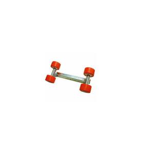 4 Galets 120 mm + Balancier 30x30