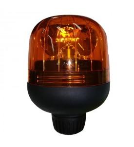Gyrophare EUROROT tige rigide orange 24 V avec ampoule - IP55 - H. 162 mm - Ø 116 mm