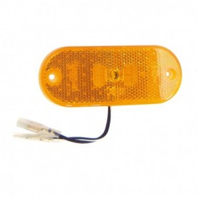 Feu à LED Orange 24 V + catadioptre