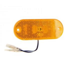 Feu à LED Orange 24 V + catadioptre