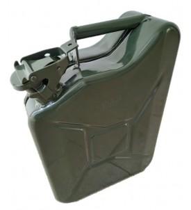Jerrican type armée avec goupille de sécurité 10 litres - dim. 39 x 28,5 x 12 cm