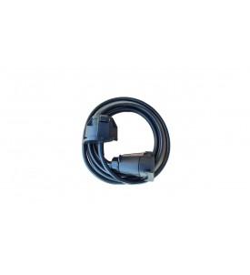 Rallonge en plastique 2,50 m - 7 x 1 mm² - socle femelle/Prolongateur femelle