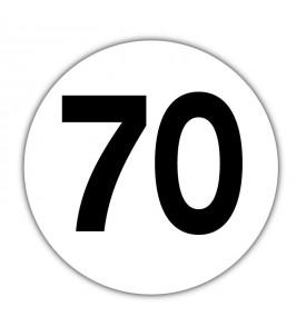 Disque limitation de vitesse 70 km/h Adhésif