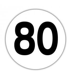 Disque limitation de vitesse 80 km/h Adhésif