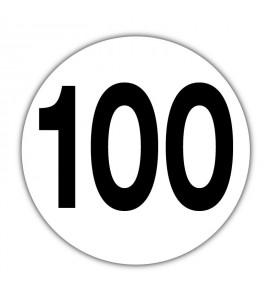 Disque limitation de vitesse 100 km/h Adhésif