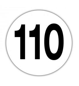 Disque limitation de vitesse 110 km/h Adhésif