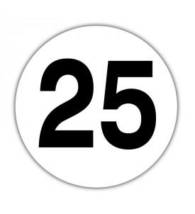 Disque limitation de vitesse 25 km/h PVC