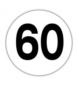 Disque limitation de vitesse 60 km/h PVC