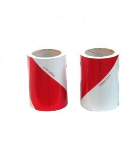 2 rouleaux de 9 M de bandes adhésives fluo route et blanc - Classe 1