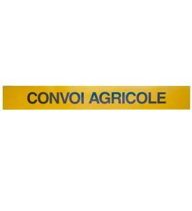 Panneau convoi agricole support métal 1 ligne