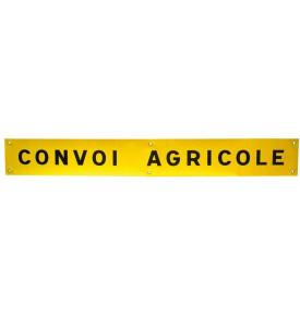 Panneau convoi agricole avec oeillet de fi xation 1 ligne