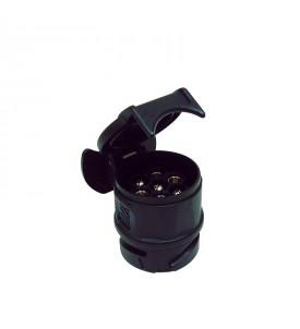 Adaptateur monobloc fiche 13 + 7 fiches super compact longueur 50 mm