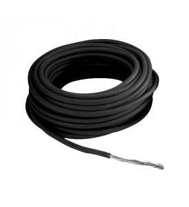 Câble à forte section 6 mm² - noir - rouleau 25 m