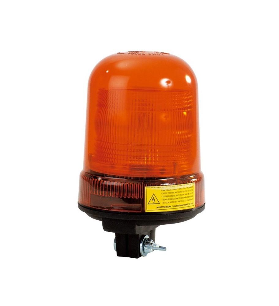 Gyrophare SIRIUS tige rigide 10 à 30 V xénon orange - IP65 IP66 - H. 201 mm - Ø 120 mm