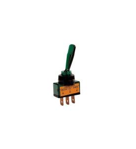 Interrupteur lumineux vert 20 A 12 V